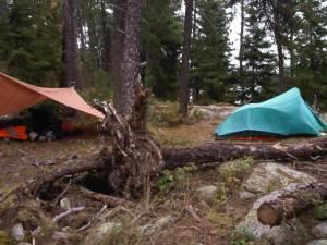 Campsite night one Cirrus