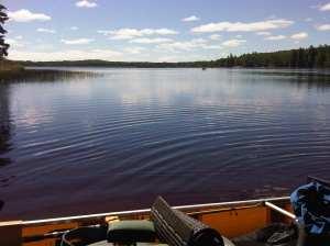 North beach nina moose paddlers on lake