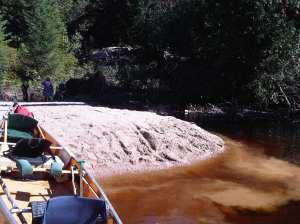 sand bar moose river