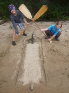 Crossed Swords on Horse Lake beach site