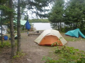 Site setup on Camp 1151 Wood Lake. By TMI. All rights reserved.
