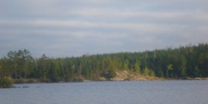 Rugged shoreline in the southern half of   Wood Lake. By TMI all rights reserved.