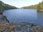 Breakfast view on Isabella Lake